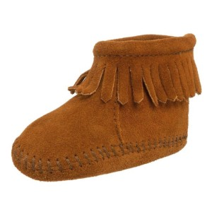 Minnetonka-Velcro-Back-Flap-Bootie-(Infant)-brown