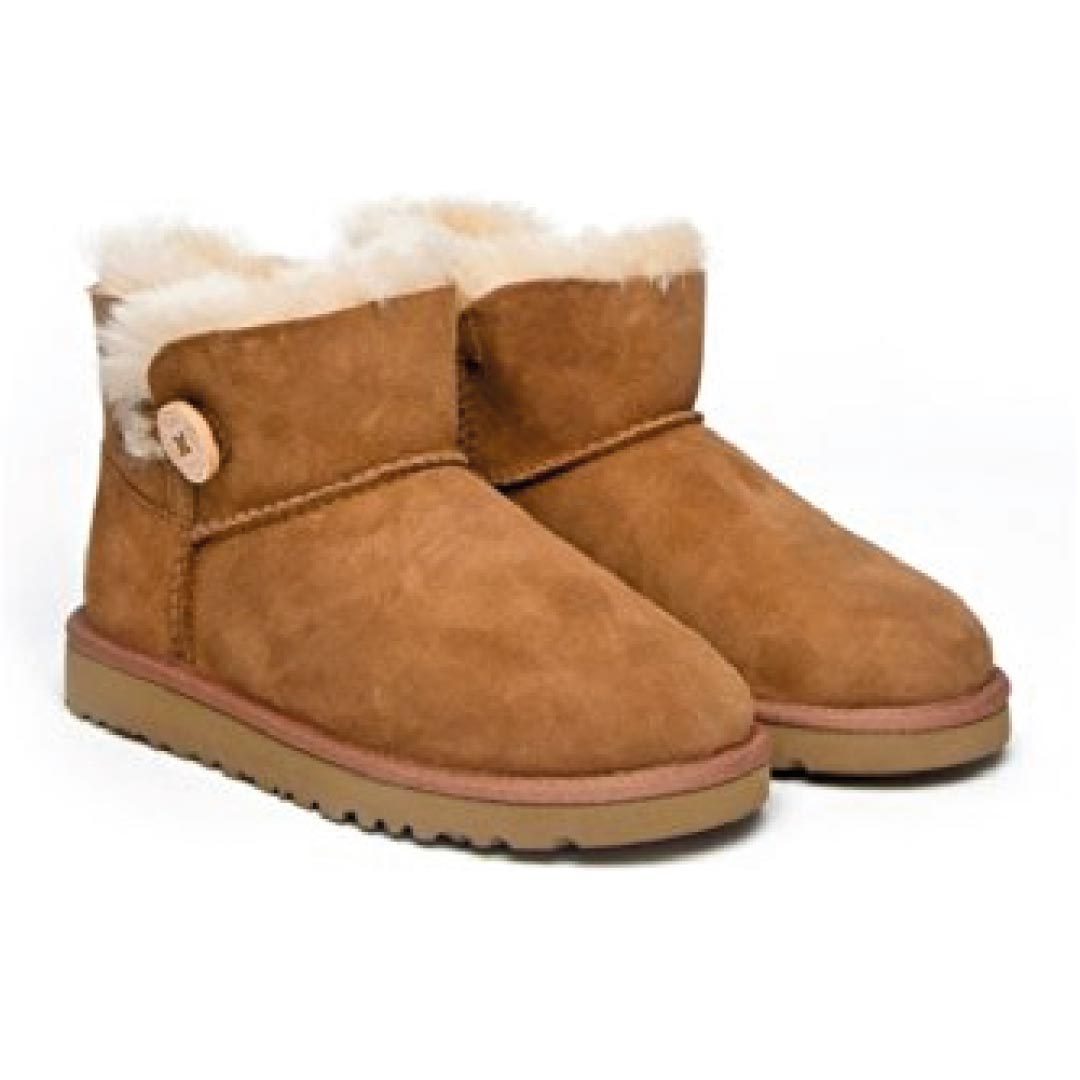UGG Australia Kids Mini Bailey Button Boot