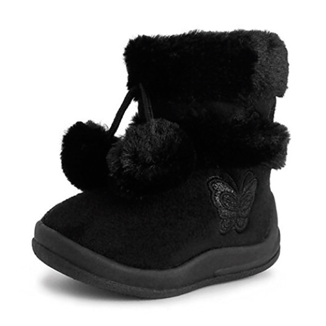 Babys Girls Infant Kids Toddler Flat Winter Fur Boots Shoes - Kids ...