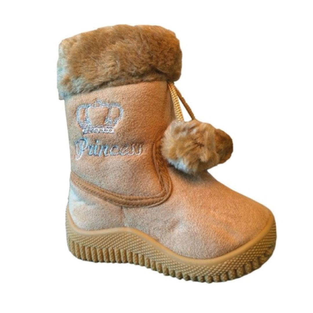 Babys Girls Infant Kids Toddler Flat Winter Fur Boots
