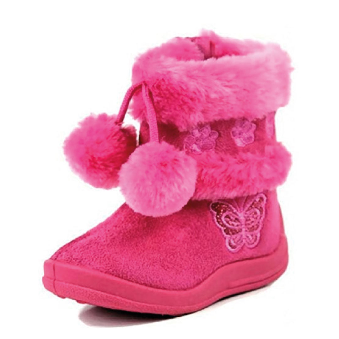 Babys Girls Infant Kids Toddler Flat Winter Fur Boots