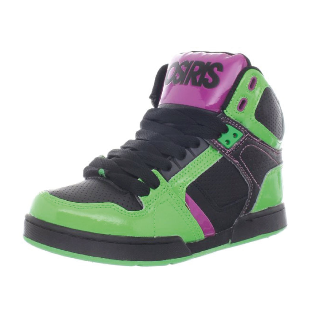Black Green Seafoam Osiris Shoes Kids