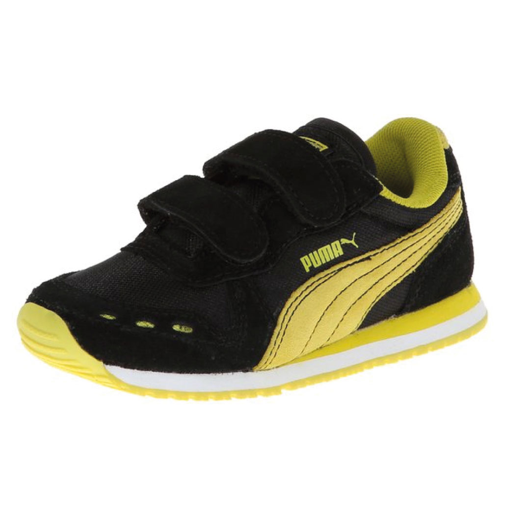 black and yellow puma sneakers