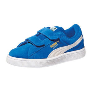 PUMA-Suede-Classic-2-Strap-Sneaker-(Toddler-Little-Kid-Big-Kid)-blue