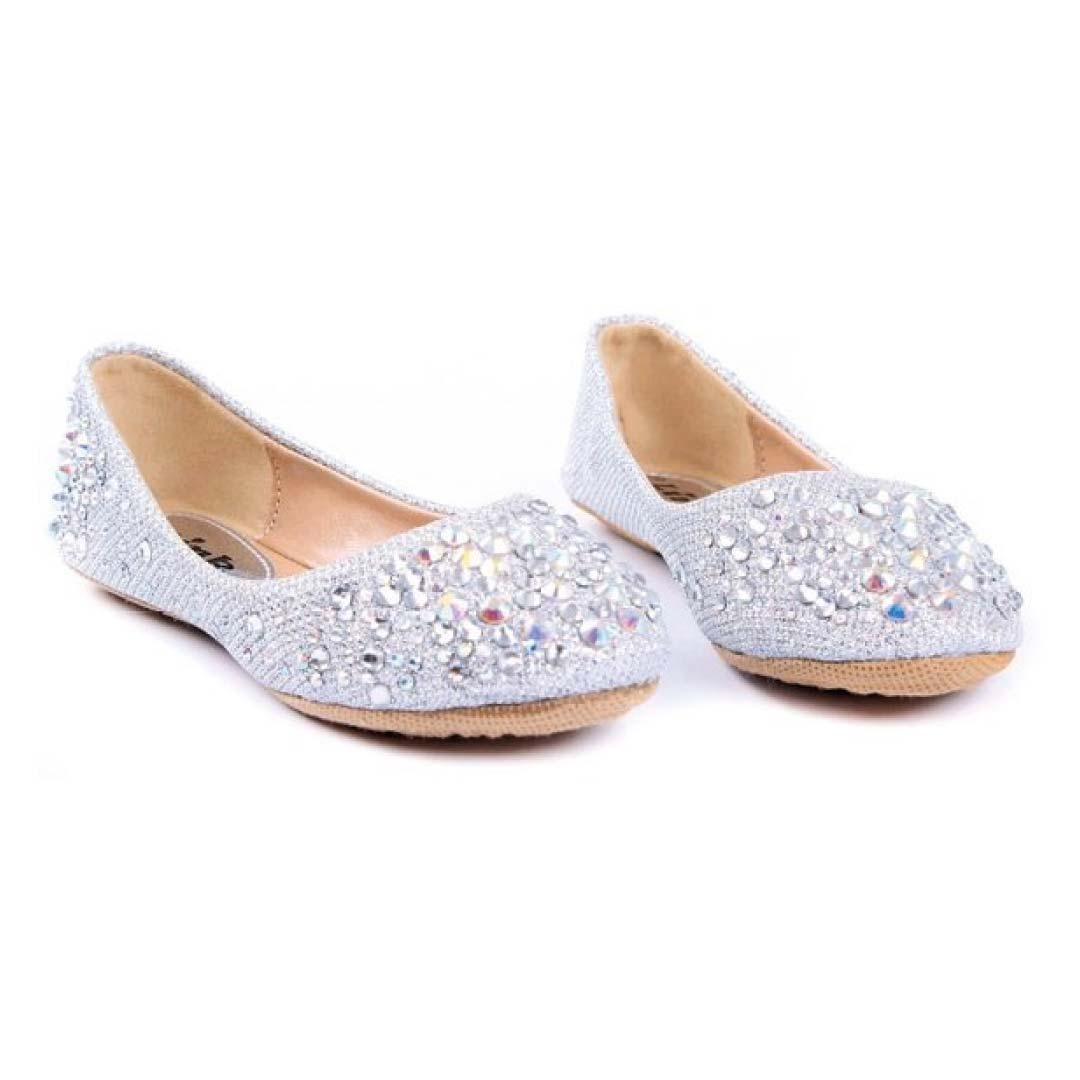 star glitter craze large p silver c sl costume girls shoes