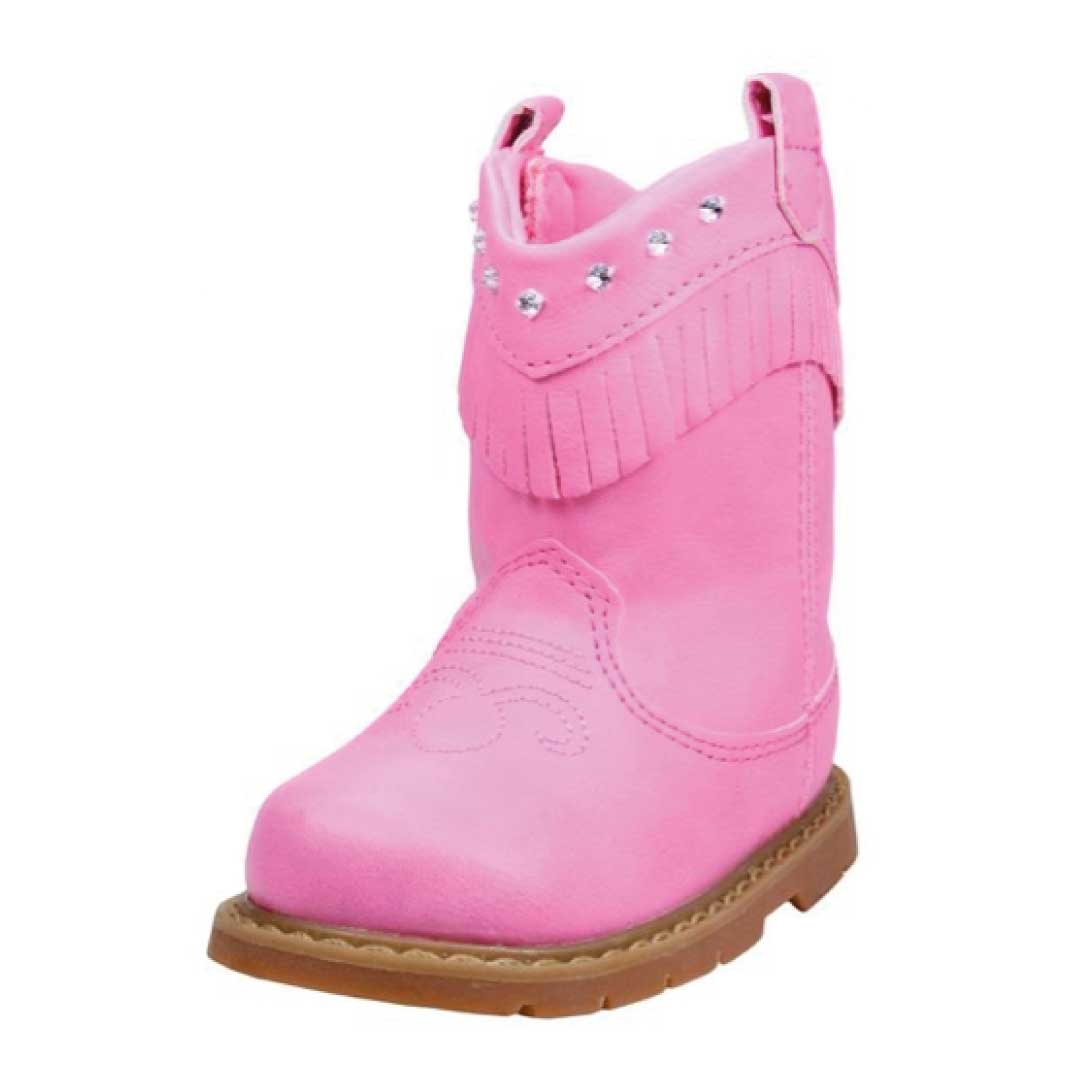 Pink Infant & Toddler Girls Cowboy Western Boots w/ Fringe ...