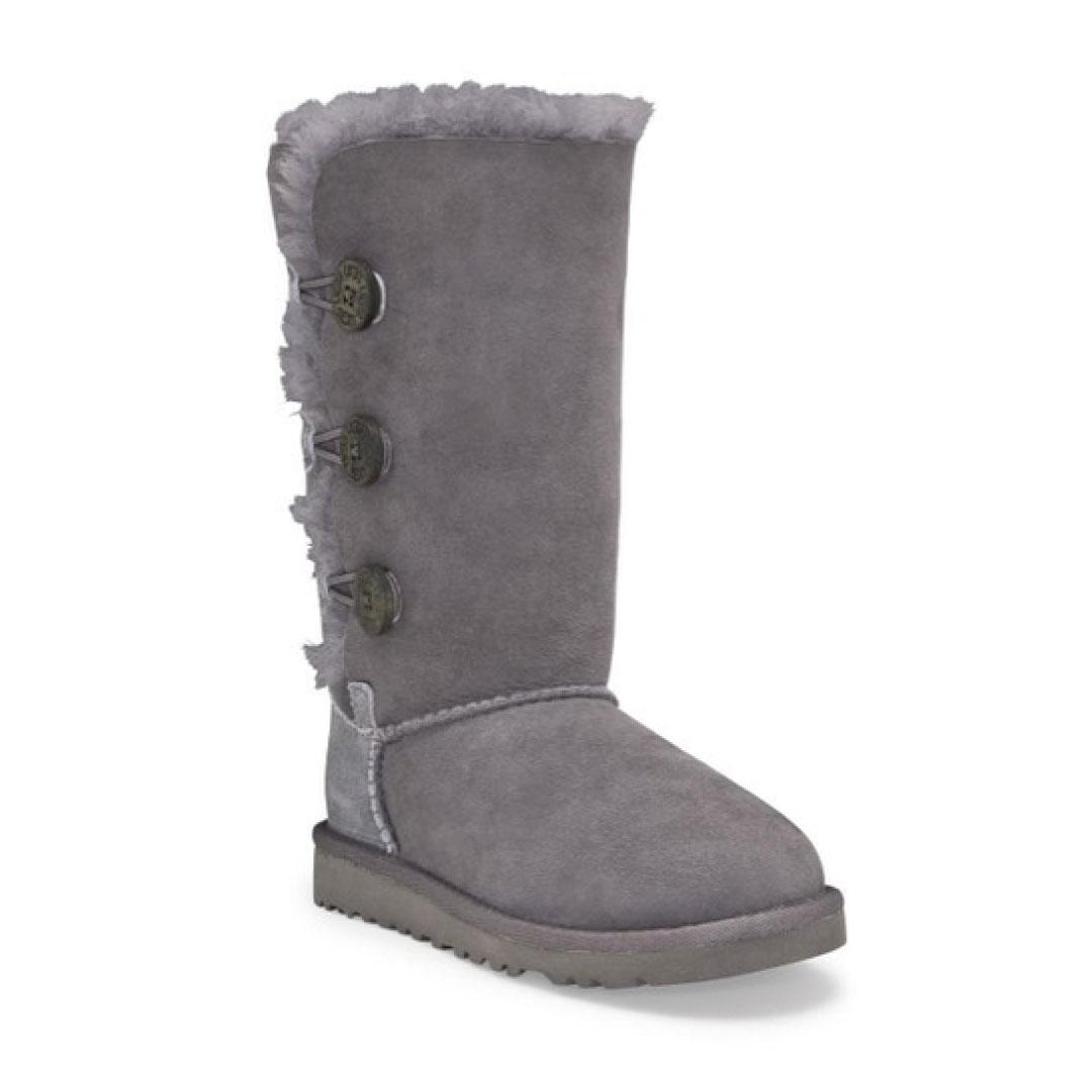 ugg kids bailey button triplet boot pre grade schoolkids world shoes rh kidsworldshoes com