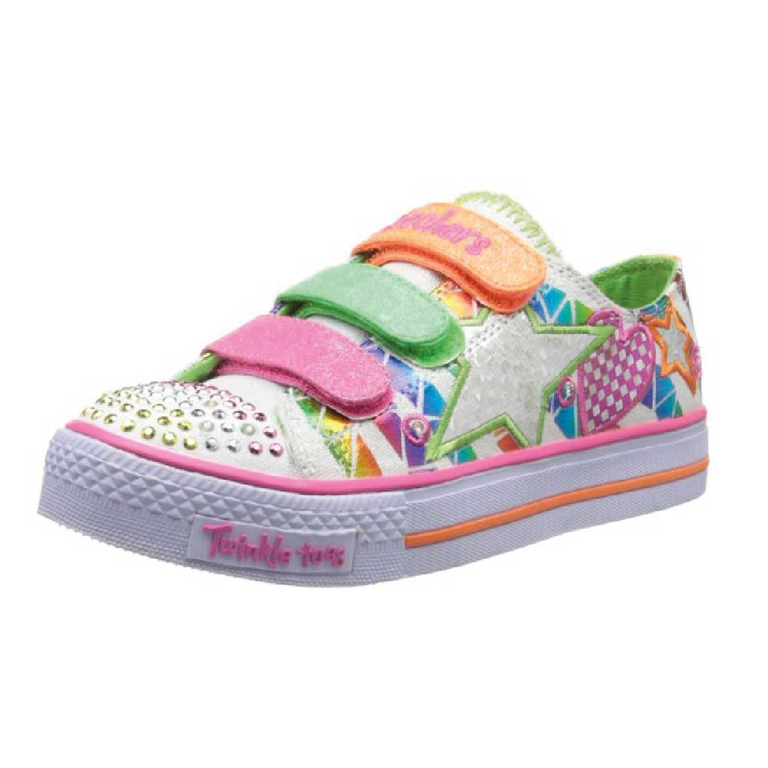skechers kids twinkle toes classy sassy sneaker with. Black Bedroom Furniture Sets. Home Design Ideas