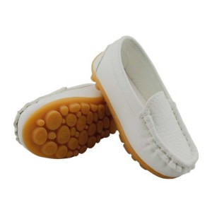 DADAWEN-Boy's-Girl's-Slip-on-Loafers-Oxford-Shoes-white