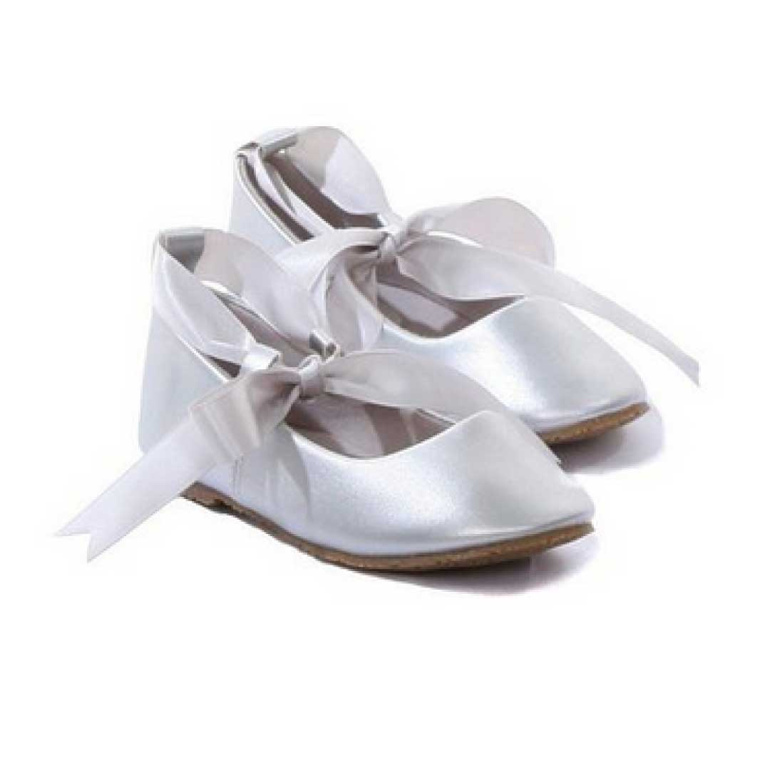 ballerina ribbon tie rubber shoes cinderella flats toddler party