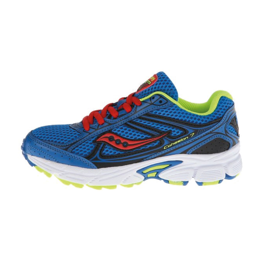 64b0c218a7 Saucony Boys Cohesion 7 Lace Running Shoe (Little Kid/Big Kid) - Kids World  Shoes