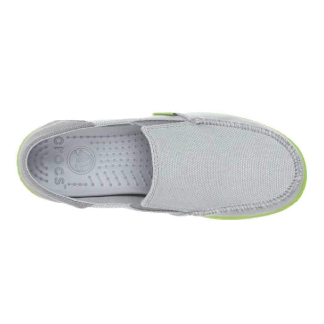 crocs Boys' Santa Cruz Canvas Loafer